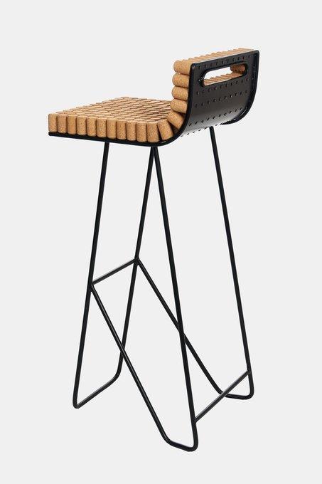 Барный стул Cork с сидением из пробок