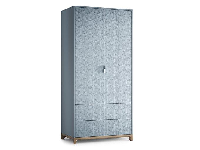 Шкаф Case №4 серо-голубого цвета