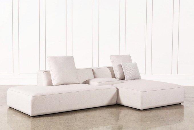 Модульный диван Goff белого цвета