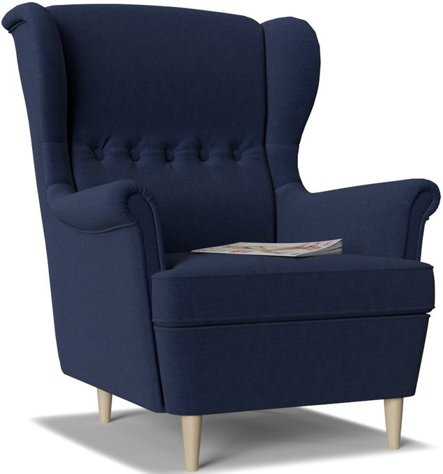 Кресло Торн Porshe Blue темно-синего цвета