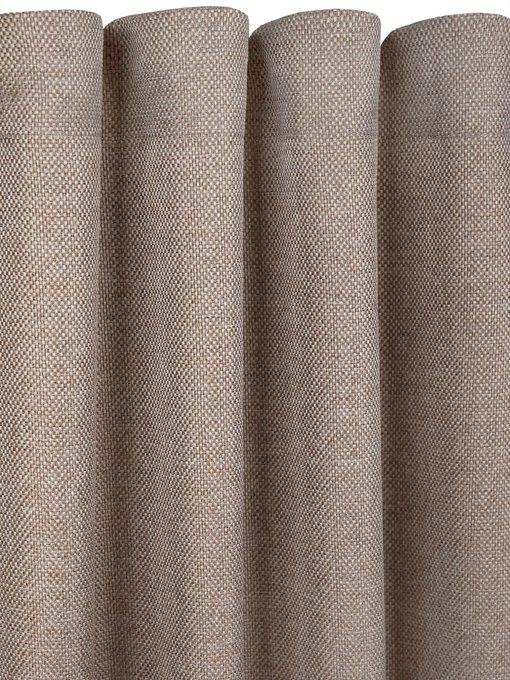 Штора рогожка Hazel 170х270 светло-коричневого цвета