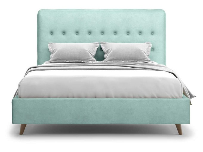 Кровать Bergamo ментолового цвета 160х200