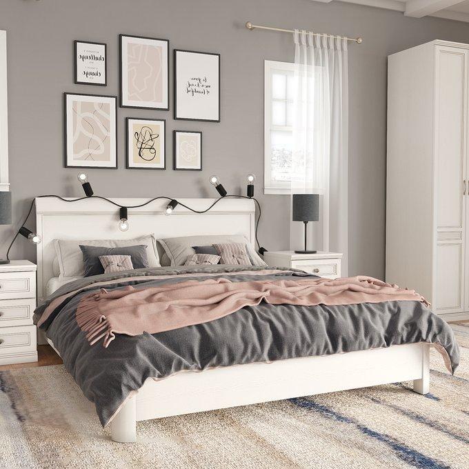 Кровать Белладжио 140х200 белого цвета