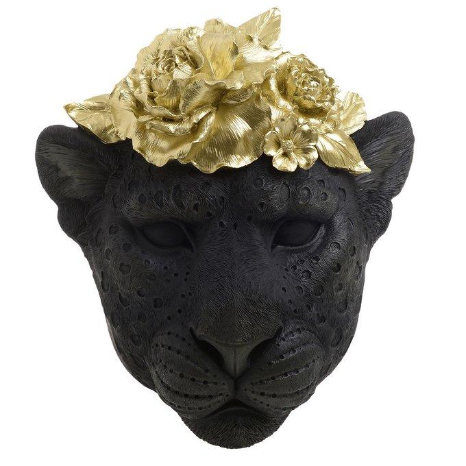 Декор настенный Львица черно-золотого цвета