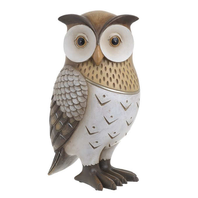 Статуэтка сова бело-бежевого цвета