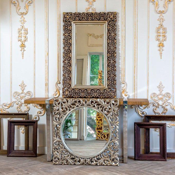 Настенное зеркало Багдад в раме цвета состаренной бронзы