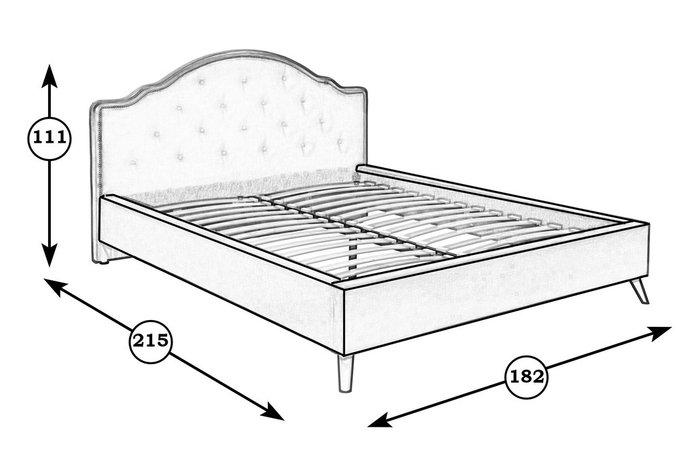 Кровать Эскада бежевого цвета 160х200