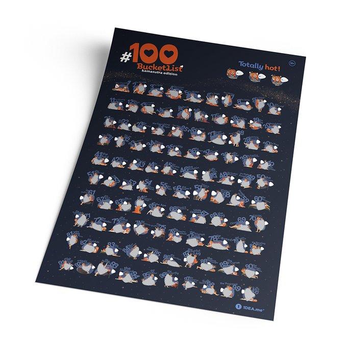 Интерактивный скретч постер #100 bucketlist kamasutra edition