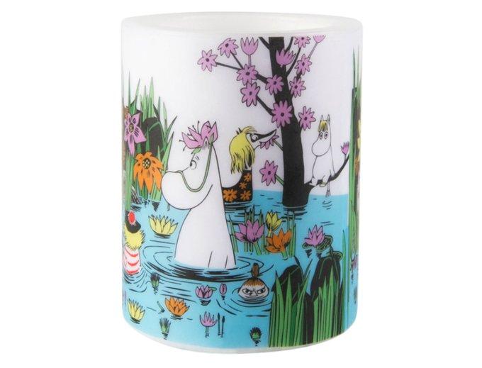 Свеча Moomin На пруду из парафина