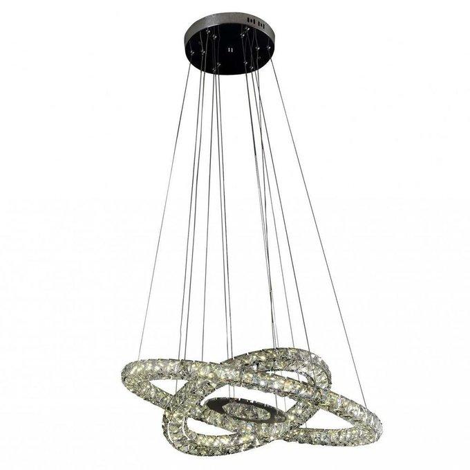 Подвесной светодиодный светильник Тор-Кристалл из металла и хрусталя
