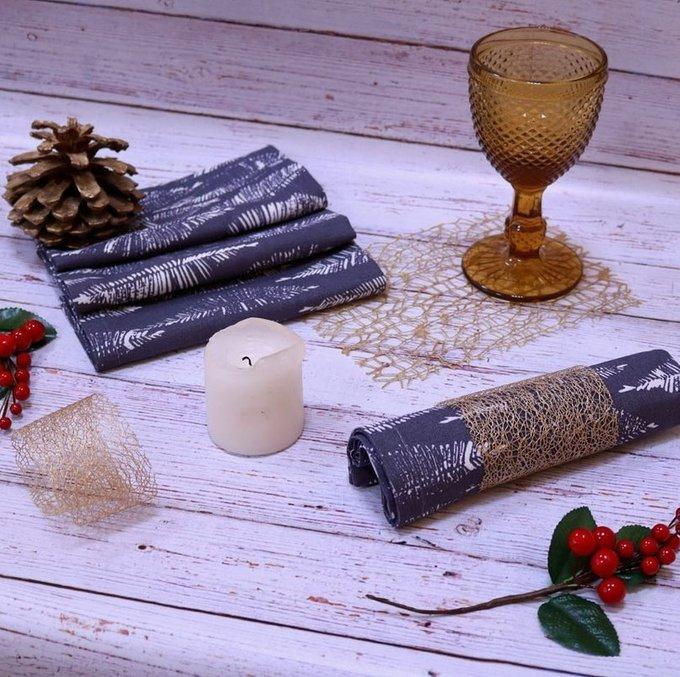 Набор сервировочный Серый лен (дорожка и 6 салфеток)