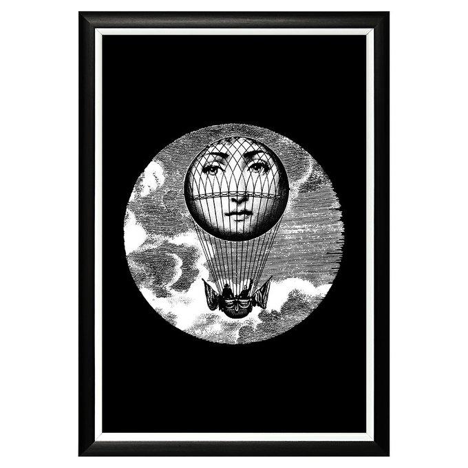 Арт-постер Лина версия Монгольфьер в раме из полистирола