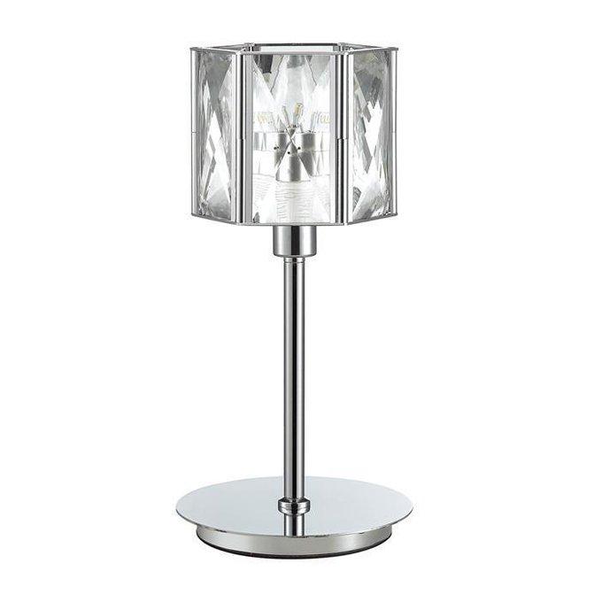 Настольная лампа Brittani из металла и хрусталя