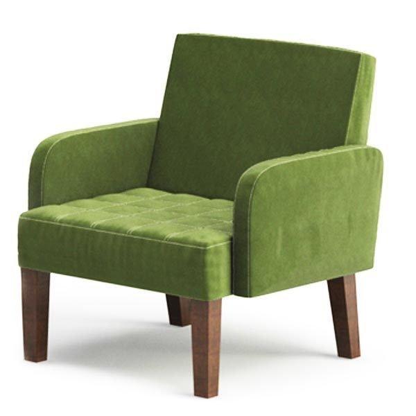 Мягкое кресло Квадро зеленого цвета