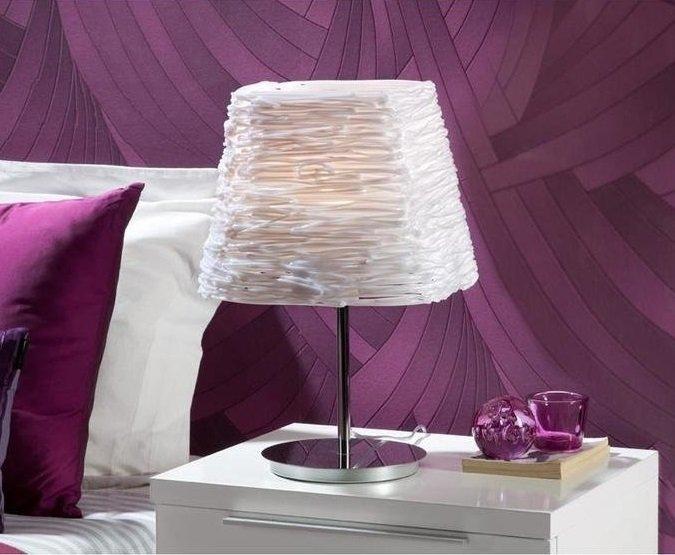 Настольная лампа Schuller Mambo с белым абажуром