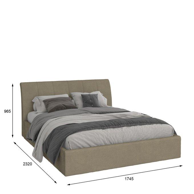 Кровать Инуа 160х200 темно-серого цвета с подъемным механизмом