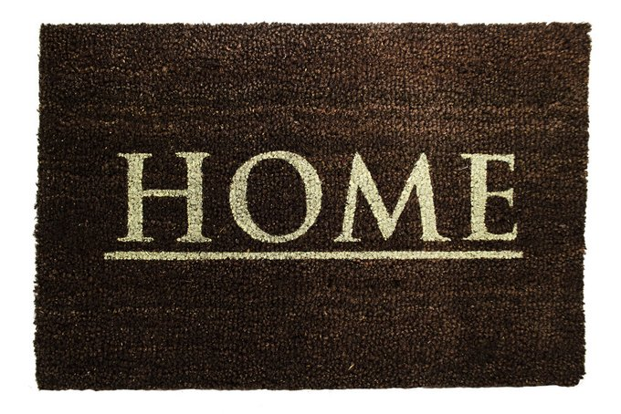 Придверный коврик темно-коричневого цвета 40х60