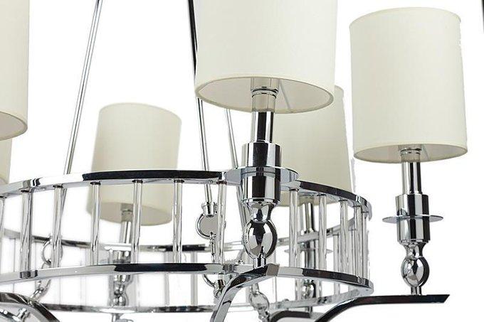 Подвесная люстра Easton Light Chandelier из хромированного металла