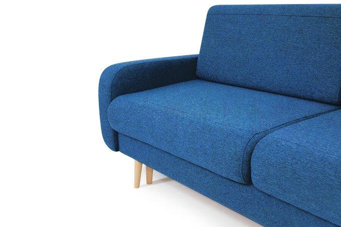 Диван-кровать Микаэле синего цвета
