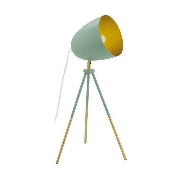 Настольная лампа Chester-P зеленого цвета