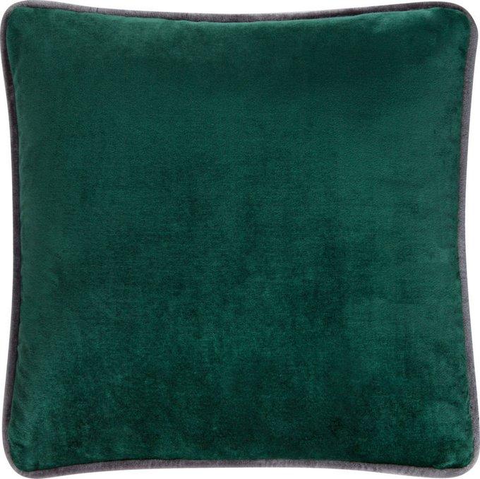 Подушка из ткани зелёного цвета