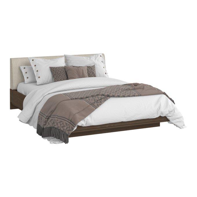 Кровать Сиена 140х200 с бежевым изголовьем и подъемным механизмом