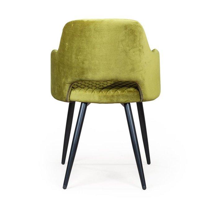 Стул с подлокотниками William оливково-зеленого цвета