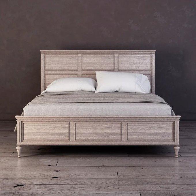 Кровать с мягким изголовьем Riverdi цвета светлый дуб  160х200