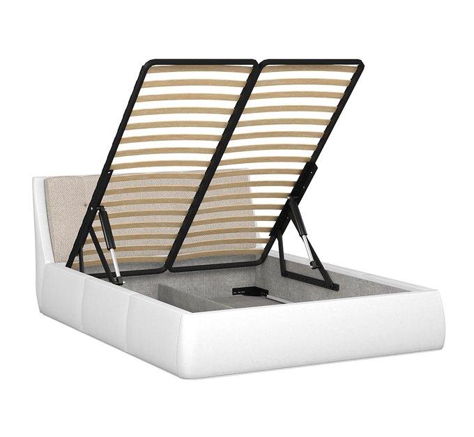 Кровать Гесиона 160х200 белого цвета с подъемным механизмом
