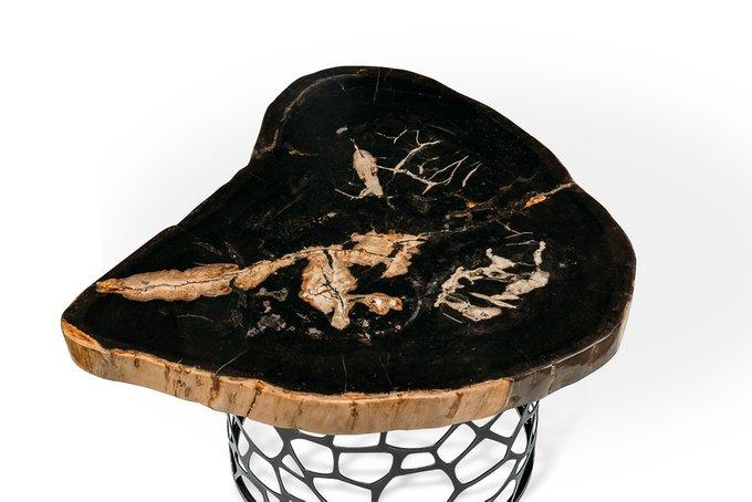 Журнальный стол Бинтау из окаменелого дерева 381174