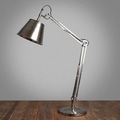 Лампа настольная хромированная