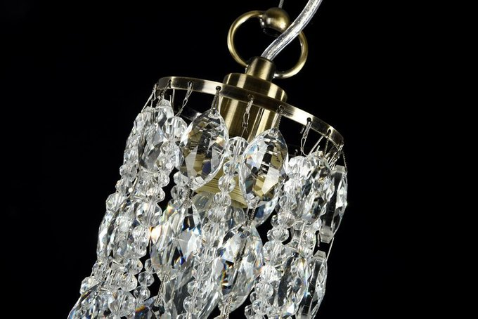 Подвесной светильник Ronta с плафоном из хрустальных подвесок
