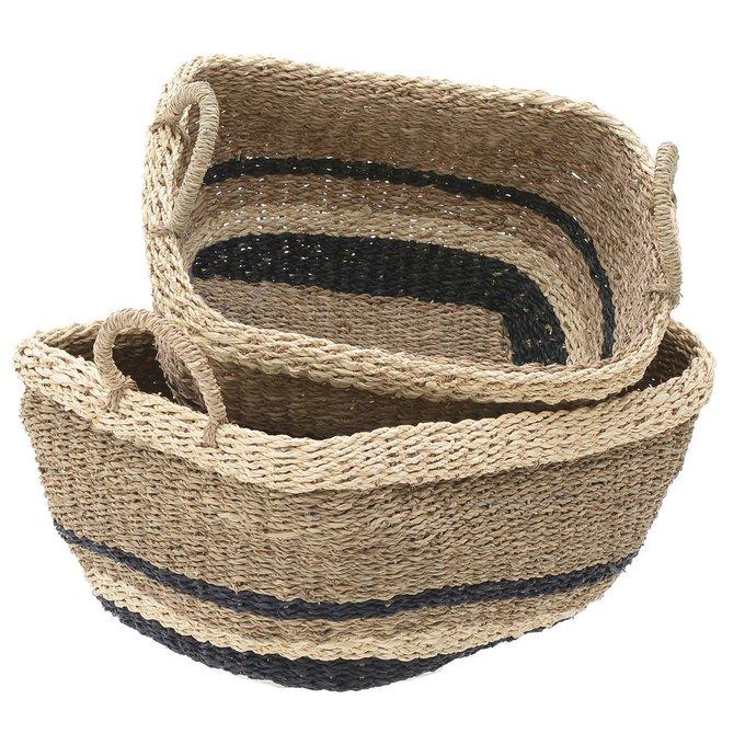 Набор из двух корзин из морской травы