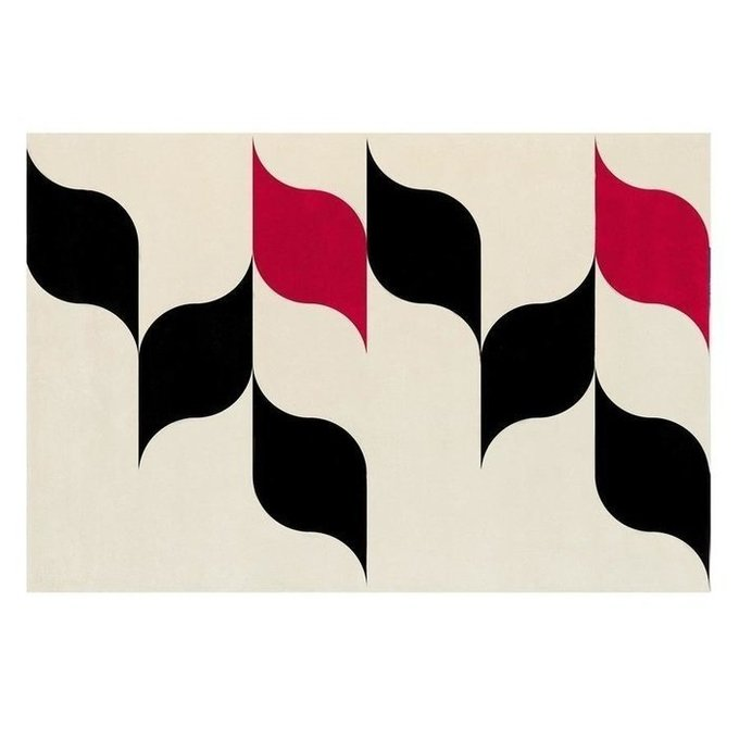 Ковер Piu piu cua cua черно-красного цвета 170х240