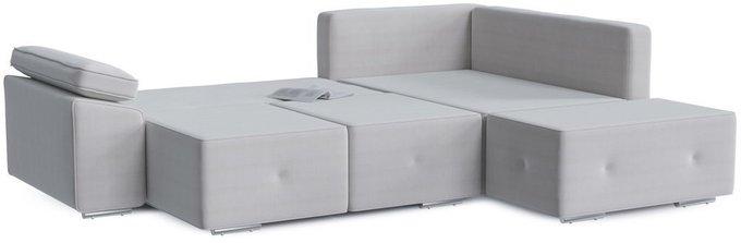 Диван-кровать угловой Хавьер белого цвета