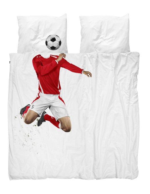 Комплект постельного белья Футболист красный 200х220