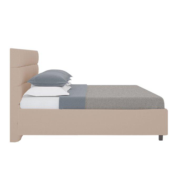 Кровать Wales Велюр Серо-коричневый 140х200