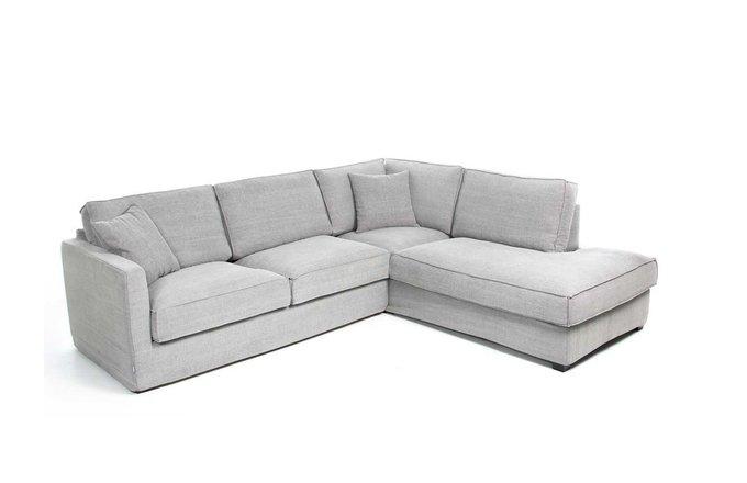 Угловой диван Sebastian светло-серого цвета