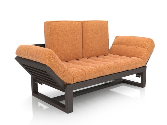Кушетка Балтик венге оранжевая рогожка