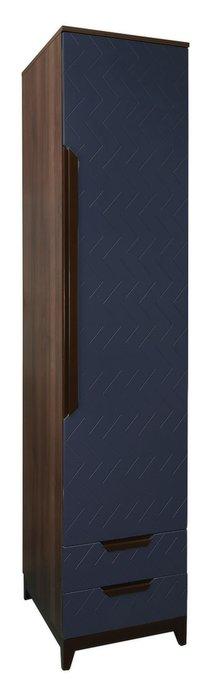 Шкаф с ящиками универсальный Сканди с фасадом темно-синего цвета