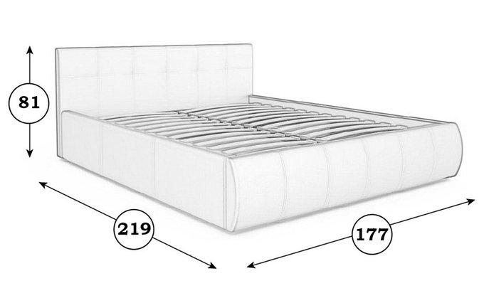 Кровать Афина коричневого цвета с ортопедическим основанием 160х200