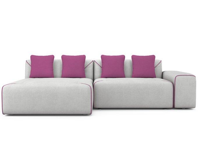 Угловой Диван-кровать Portu левый светло-серого цвета