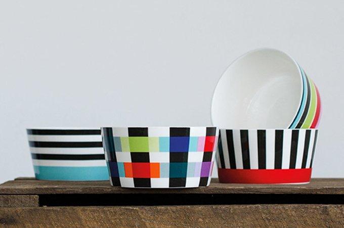 Миска фарфоровая stripy