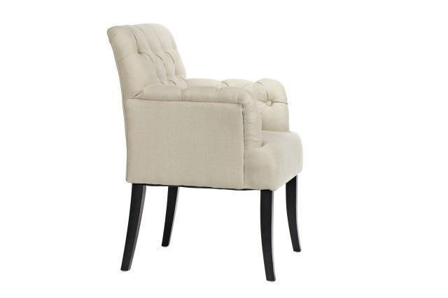Кресло Castro Armchair с льняной обивкой