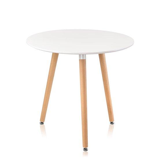 Обеденный стол Oslo Round WT на ножках из массива бука