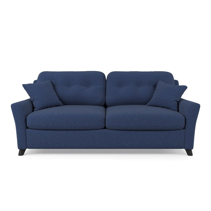 Диван-кровать Raf MT трехместный синего цвета