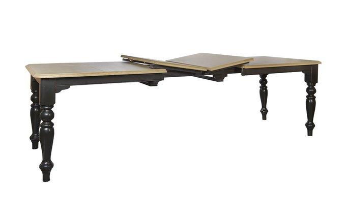 Стол обеденный раскладной с каркасом из массива тополя и столешницей в отделке дубовым шпоном