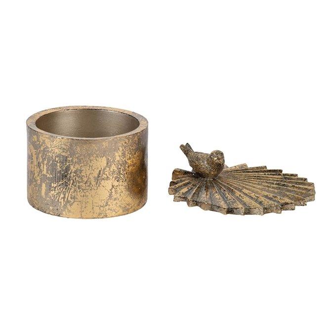 Шкатулка с нежной птицей на листе