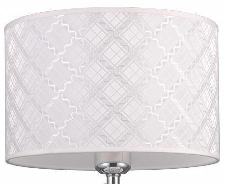 Настольная лампа Агнис с белым абажуром