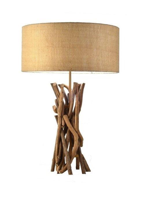 Настольная лампа Хворост Круг в эко-стиле